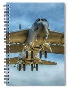 B-52 Departure Color Spiral Notebook