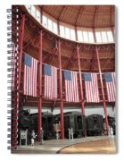 B And O Museum Roundhouse In Baltimore Maryland Spiral Notebook