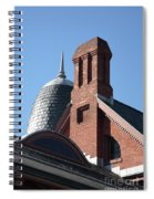 B And O Railroad Station In Oakland Maryland Spiral Notebook