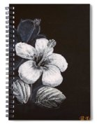B And W Hibiscus Spiral Notebook