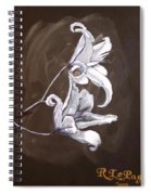 B And W Lily Spiral Notebook