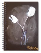 B And W Tulips Spiral Notebook