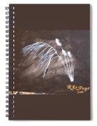 B And W Wild Grass Spiral Notebook