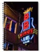 B B Kings On Beale Street Spiral Notebook