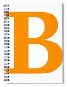 B In Tangerine Typewriter Style Spiral Notebook