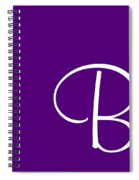 B In White Simple Script Spiral Notebook
