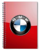 B M W Badge On Red  Spiral Notebook