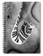 Piano Keys In A Saxophone B/w - Music In Motion Spiral Notebook