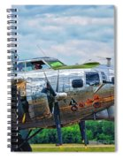 B17 Bomber Side View Spiral Notebook