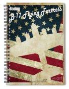 B17 Flying Fortress Vintage Spiral Notebook