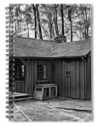 Babcock State Park Cabin - Paint Bw Spiral Notebook