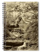 Babcock State Park Wv - Sepia Spiral Notebook