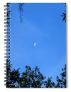 Babcock Wilderness Ranch - Daytime Moon Over Babcock Spiral Notebook