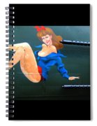 Babe On Wwii Bomber The Show Me Spiral Notebook