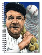 Babe Ruth Spiral Notebook
