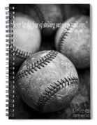 Babe Ruth Quote Spiral Notebook
