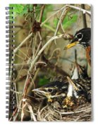 Babes In The Nest Spiral Notebook