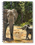 Baby And Mom Elephant Painting Spiral Notebook