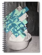 Baby And Squares 2 Spiral Notebook
