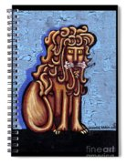 Baby Blue Byzantine Lion Spiral Notebook