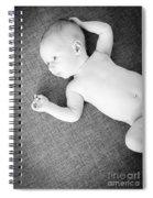 Baby Boy Black And White Spiral Notebook