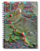 Baby Bunny - Use Red-cyan 3d Glasses Spiral Notebook