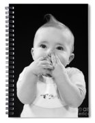Baby Covering Mouth With Hands, C.1950s Spiral Notebook