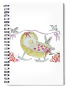 Baby Girl With Bunny And Birds Spiral Notebook