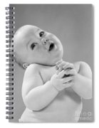 Baby In Sentimental Pose, C.1950s Spiral Notebook