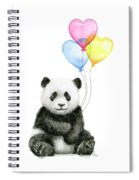 Baby Panda With Heart-shaped Balloons Spiral Notebook