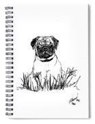 Baby Pug In Flowers Spiral Notebook