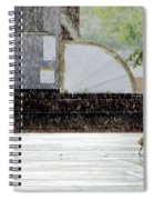 Baby Seagull Running In The Rain Spiral Notebook