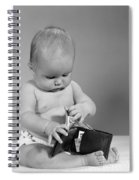 Baby Taking Money From Wallet, C.1960s Spiral Notebook