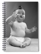 Baby With Odd Expression, 1950s Spiral Notebook