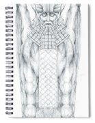 Babylonian Sphinx Lamassu Spiral Notebook