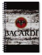 Bacardi Wood Art Spiral Notebook