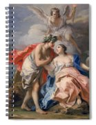 Bacchus And Ariadne Spiral Notebook