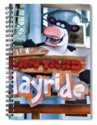 Back At The Barnyard Hayride Spiral Notebook