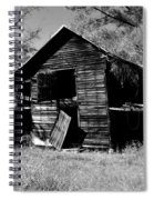 Back On The Farm Black And White Spiral Notebook