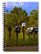Back Road Mailboxes Spiral Notebook