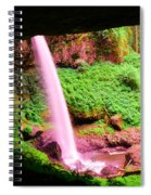 Back Side Of Silver Falls Spiral Notebook
