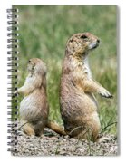 Back To Back Prairie Dogs Spiral Notebook