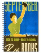 Back To Books Spiral Notebook