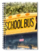 Back To School Bus Watercolor Spiral Notebook