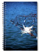 Back To The Bay Blue Crab Spiral Notebook