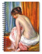 Back View Of A Bather 1893 Spiral Notebook