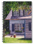 Back Yard With Flower Pots Spiral Notebook