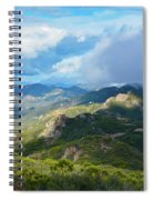 Backbone Trail Santa Monica Mountains Spiral Notebook