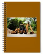 Backhoe And Loader 12118 Spiral Notebook