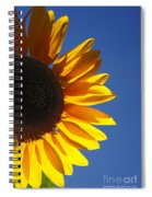 Backlit Sunflower Spiral Notebook